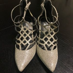Fioni Silver Sparkly Heels